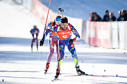 Jean Guillaume Beatrix (FRA) competes during Men 12,5 km Pursuit at day 3 of IBU Biathlon World Cup 2015/16 Pokljuka, on December 19, 2015 in Rudno polje, Pokljuka, Slovenia. Photo by Ziga Zupan / Sportida