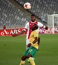 Isaac Nhlapo and Vusi Ntanga in the match between Ajax Cape Town and Golden Arrows at the Cape Town Stadium on Saturday, August 19, 2017.