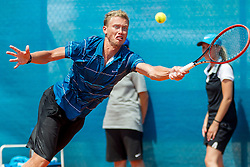 Dmitry Surchenko (RUS) during a tennis match against the Gerald Melzer (AUT) in Qualification round of singles at 26. Konzum Croatia Open Umag 2015, on July 19, 2015, in Umag, Croatia. Ptoto by Urban Urbanc / Sportida.com