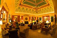 Interior view of the lobby area, Hotel Monaco, Downtown Denver, Colorado USA