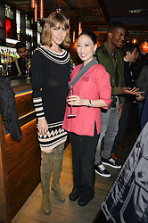 Left to right, ARIZONA MUSE and JUDY JOO at the launch of Korean restaurant Jinjuu with chef Judy Joo at 15 Kingley Street, London on 22nd January 2015.