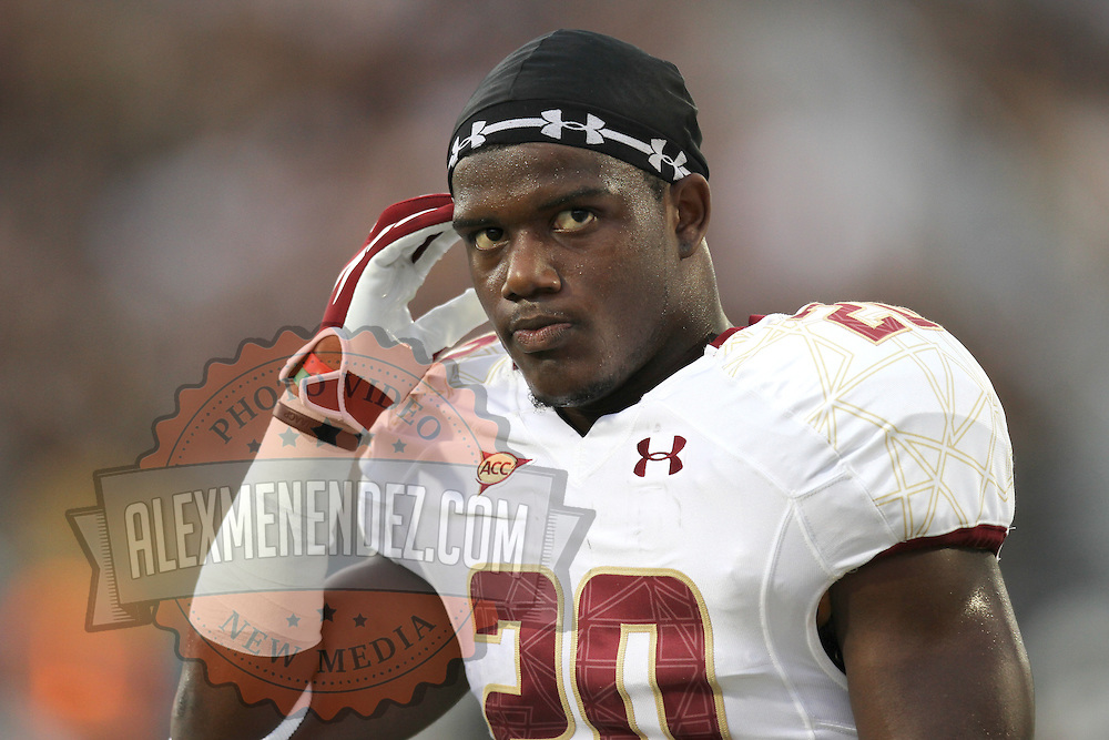 Boston College running back Tahj Kimble (20) during an NCAA football game between the Boston College Eagles and the UCF Knights at Bright House Networks Stadium on Saturday, September 10, 2011 in Orlando, Florida. (AP Photo/Alex Menendez)