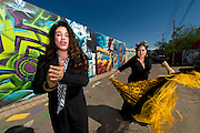 Singer Olivia Rojas (left) and Flamenco dancer Angelina Ramirez (right) pose for a photo outside of their dance studio in Downtown Phoenix on August 12, 2016. Rojas and Ramirez are co-owners of Flamenco Por La Vida dance studio. Singer Olivia Rojas and Flamenco dancer Angelina Ramirez co-owners of Flamenco Por La Vida dance studio in Downtown Phoenix, AZ.