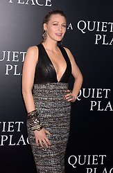 """""""A Quiet Place"""" New York Premiere AMC Lincoln Square, NY. 02 Apr 2018 Pictured: Blake Lively. Photo credit: RCF / MEGA TheMegaAgency.com +1 888 505 6342"""