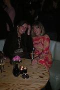 Baba Hobart and Lindsay Bareham. Launch of the Sunday Telegraph magazine 'Stella'. Momo, Berkeley St. London.   November 2005 . ONE TIME USE ONLY - DO NOT ARCHIVE © Copyright Photograph by Dafydd Jones 66 Stockwell Park Rd. London SW9 0DA Tel 020 7733 0108 www.dafjones.com