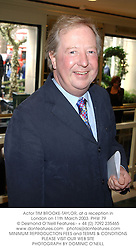Actor TIM BROOKE-TAYLOR, at a reception in London on 11th March 2003.PHW 79