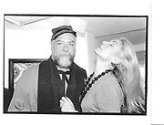 Mr Roger Law and Rebecca Hossack at the Sophie de Stempel opening. Rebecca Hossack gallery, Windmill St. London 9th October 1997© Copyright Photograph by Dafydd Jones 66 Stockwell Park Rd. London SW9 0DA Tel 020 7733 0108 www.dafjones.com