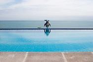 Infinity Pool at the Hosteria Farallon Dillon in Ballenitas, Ecuador.