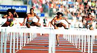 Friidrett ,  11. juni 2015 , Diamond League , Bislett Games , Oslo<br />  Atheltics<br /> 100 m hekk<br /> <br /> Alina Talay , BLR<br /> Brianna Rollins , USA<br /> Jasmin Stowers , USA<br /> Queen Harrison , USA