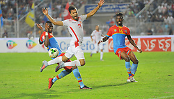 September 1, 2017 - Tunis, Tunisia - Taha Yessine Khenissi(11) of Tunisia elected best player of the Tunisian championship  during the qualifying match for the World Cup Russia 2018 between Tunisia and the Democratic Republic of Congo (RD Congo) at the Rades stadium in Tunis. (Credit Image: © Chokri Mahjoub via ZUMA Wire)