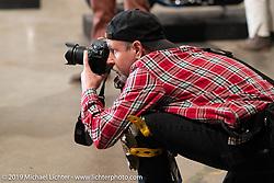 Michael Lichter shooting at the Handbuilt Show. Austin, TX. USA. Saturday April 21, 2018. Photography ©2018 Michael Lichter.