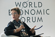 Wendy Lucas-Bull, Chairman, Absa Group, South Africa speaking during the session Fighting Financial Crime at the World Forum World Economic Forum on Africa 2019. Copyright by World Economic Forum / Greg Beadle