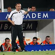 Gomel's coach Oleg KUBAREV during their UEFA Europa League Third qualifying round, First leg soccer match Bursaspor between Gomel at the Ataturk stadium in Bursa Turkey on Thursday 28 July 2011. Photo by TURKPIX