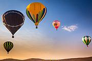 Hot air balloons at the Prosser Ballon Rally in Prosser, Washington