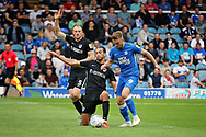 Peterborough United forward Matt Godden (9) on his way to scoring for Posh during the EFL Sky Bet League 1 match between Peterborough United and Portsmouth at London Road, Peterborough, England on 15 September 2018.