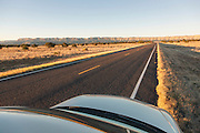 Car parked on the scenic Byway 12, Utah, United States of America