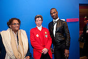 RAJEER SHETHI; DUGGIE FIELDS; SHERMAN HAWTHORNE,  My favorite dress book launch hosted by Susy Menkes and Zandra Rhodes. Fashion Museum. London. In Support of Save the Children. 11 January 2010