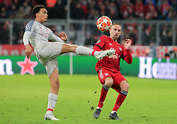 13.03.2019, CL, Champions League, Achtelfinale Rueckspiel, FC Bayern Muenchen vs FC Liverpool, Allianz Arena Muenchen , Fussball, Sport im Bild:.. Trent Alexander-Arnold (FC Liverpool) vs Franck Ribery (FCB)..DFL REGULATIONS PROHIBIT ANY USE OF PHOTOGRAPHS AS IMAGE SEQUENCES AND / OR QUASI VIDEO...Copyright: Philippe Ruiz..Tel: 089 745 82 22.Handy: 0177 29 39 408.e-Mail: philippe_ruiz@gmx.de (Credit Image: © Philippe Ruiz/Xinhua via ZUMA Wire)
