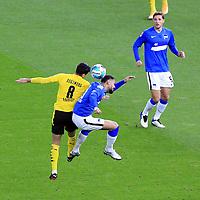 21.11.2020, OLympiastadion, Berlin, GER, DFL, 1.FBL, Hertha BSC VS. Borussia Dortmund, <br /> DFL  regulations prohibit any use of photographs as image sequences and/or quasi-video<br /> im Bild Carneiro da Cunha (Hertha BSC Berlin #10), Niklas Stark (Hertha BSC Berlin #5),<br /> Mahmoud Dahoud (Borussia Dortmund #8)<br /> <br />       <br /> Foto © nordphoto / Engler