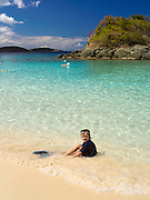 View of Trunk and Maho Bay, St. Johns, US Virgin Islands