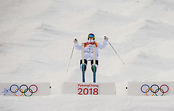 February 9, 2018 - Pyeongchang, South Korea - 180209 Felix Elofsson of Sweden compete in the MenÃ•s Moguls Qualification during the 2018 Winter Olympics on February 9, 2018 in Pyeongchang..Photo: Petter Arvidson / BILDBYRN / kod PA / 91955 (Credit Image: © Petter Arvidson/Bildbyran via ZUMA Press)