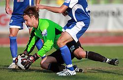 Goalkeeper Stanislav Kuzma (32) of Nafta at 7th Round of PrvaLiga Telekom Slovenije between NK Interblock vs NK Nafta Lendava, on September , 2008, in ZAK stadium in Ljubljana, Slovenia. Interblock won the match 3:1. (Photo by Vid Ponikvar / Sportal Images)