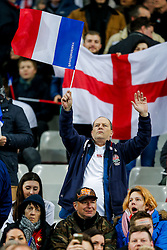 England fans before kick off - Mandatory byline: Rogan Thomson/JMP - 19/03/2016 - RUGBY UNION - Stade de France - Paris, France - France v England - RBS 6 Nations 2016.