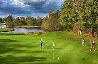 HEERENVEEN - Golfbaan-  Hole 7 en 16 van Golfclub Heidemeer in Heerenveen. COPYRIGHT KOEN SUYK
