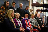 British Astronaut Tim Peake with members of his family before receiving an Honorary Doctorate of Science Degree from the University of Portsmouth at the Guildhall in the city.<br /> Earlier, Tim spent the day at the UK Space Agency Schools Conference hosted by the University.<br /> The conference celebrated the work of over a million UK school students inspired by Peake's Principia mission, which saw the flight dynamics and evaluation graduate spend more than six months on board the International Space Station.<br /> Youngsters had the chance to present their work through talks and exhibitions to experts from the UK Space Agency, European Space Agency (ESA), partner organisations and the space sector. Most also had the chance to meet Tim.<br /> Picture date Wednesday 2nd November, 2016.<br /> Picture by Christopher Ison for the University of Portsmouth.<br /> Contact +447544 044177 chris@christopherison.com
