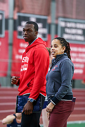 coach Robyne Johnson<br /> Boston University Scarlet and White<br /> Indoor Track & Field, Bruce LeHane