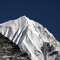 October 2009 WWF Everest - ice and snow on the mountains of the Everest Range form Kala Patar
