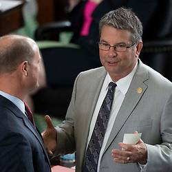 Texas Senate action on Tuesday, May 18, 2021 showing Sen. Charles Perry-R-Lubbock.