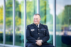 © Licensed to London News Pictures. 23/05/2021. Manchester, UK. The new Chief Constable of Greater Manchester Police STEPHEN WATSON QPM is pictured during an interview outside GMP's force headquarters in Newton Heath, North Manchester . Photo credit: Joel Goodman/LNP