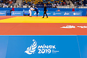 Judo at the Chizhovka Arena during the European Games on the 22nd June 2019 in Minsk in Belarus.