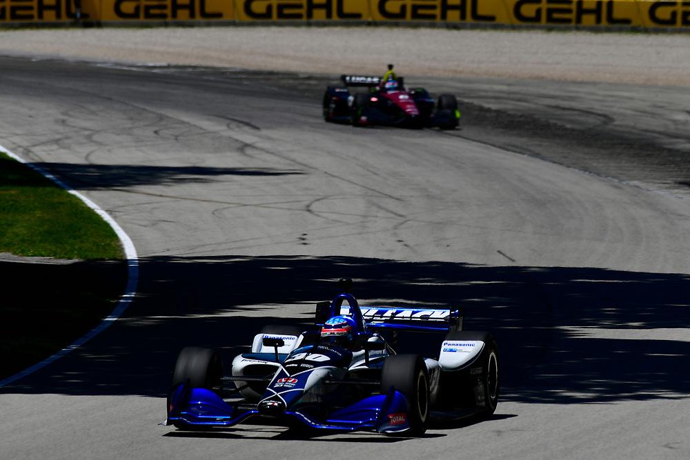 Takuma Sato, Rahal Letterman Lanigan Racing Honda<br /> Sunday 24 June 2018<br /> KOHLER Grand Prix at Road America<br /> Verizon IndyCar Series<br /> Road America WI USA<br /> World Copyright: Scott R LePage