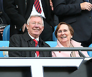 Former manager Sir Alex Ferguson and his wife Anne watch the match from the directors box - Barclays Premier League - Manchester City vs Manchester Utd - Etihad Stadium - Manchester - England - 2nd November 2014  - Picture David Klein/Sportimage