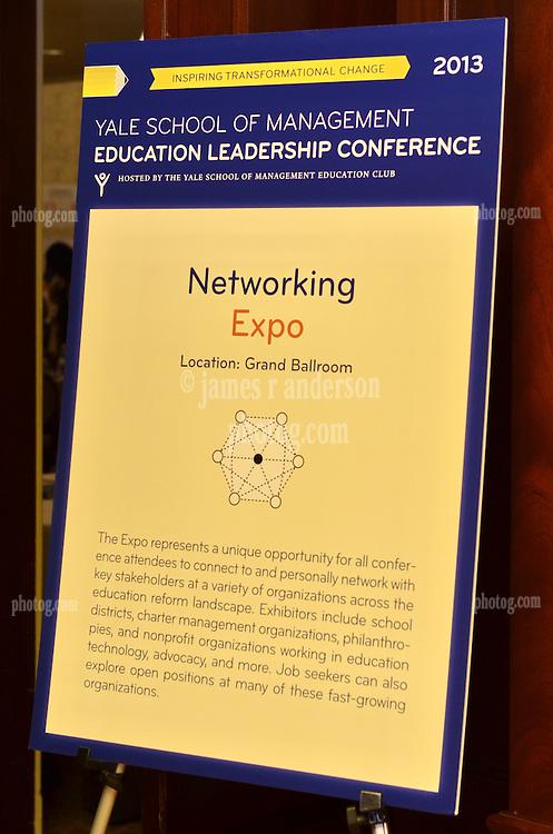 Yale SOM Education Leadership Conference 2013. Friday 5 April.