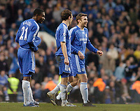 Photo: Leigh Quinnell.<br /> Chelsea v Norwich City. The FA Cup. 17/02/2007.<br /> Chelseas Andriy Shevchenko(R) happy with his goal.
