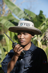 Khampeng Horkham(Interpreter) for FSD coordinating safety for the film crew of a low-order detonation of a USA made 500lb that had been dropped but failed to detonate, at Taoun Village, Laman District, near Sekong, Lao PDR