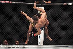 September 16, 2017 - Pittsburgh, Pennsylvania, USA - September 16, 2017: Gilbert Burns defeats Jason Saggo in the second round during UFC Fight Night at PPG Paints Arena in Pittsburgh, Pennsylvania. (Credit Image: © Scott Taetsch via ZUMA Wire)