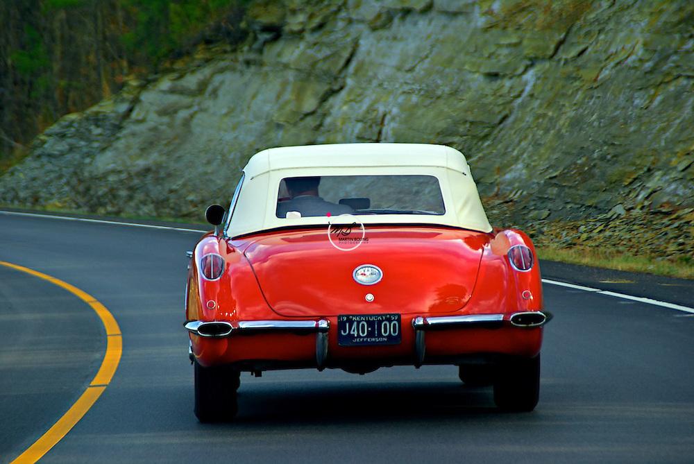 Classic Corvette on the Road