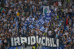 September 20, 2018 - Rome, Lazio, Italy - 20th September 2018, Stadio Olimpico, Rome, Italy; UEFA Europa League football, Lazio versus Apollon Limassol; supporters of Lazio cheer on their team  Credit: Giampiero Sposito/Pacific Press (Credit Image: © Giampiero Sposito/Pacific Press via ZUMA Wire)