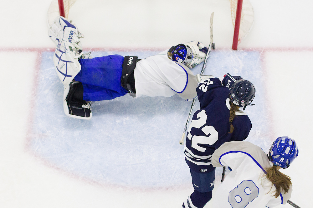 Brianne Wheeler, of Colby College, in a NCAA Division III hockey game against Middlebury College on November 15, 2013 in Waterville, ME. (Dustin Satloff/Colby College Athletics)