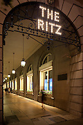 RITZ HOTEL LONDON LIGHTING BY ACDC