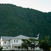 Governor's home high on a hill above Pagp Pago, Tutuila, American Samoa.