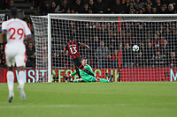 Football - 2018 / 2019 Premier League - AFC Bournemouth vs. Crystal Palace<br /> <br /> Wayne Hennessey of Crystal Palace makes a save from Bournemouth's Callum Wilson at the Vitality Stadium (Dean Court) Bournemouth <br /> <br /> COLORSPORT/SHAUN BOGGUST