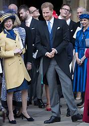 May 18, 2019 - Windsor, United Kingdom - Image licensed to i-Images Picture Agency. 18/05/2019. Windsor , United Kingdom. Prince Harry and Princess Royal  leave the Lady Gabriella Windsor  wedding at St.George's Chapel, Windsor, United Kingdom. (Credit Image: © Stephen Lock/i-Images via ZUMA Press)