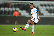 Kyle Naughton of Swansea city in action. Premier league match, Swansea city v Crystal Palace at the Liberty Stadium in Swansea, South Wales on Saturday 23rd December 2017.<br /> pic by  Andrew Orchard, Andrew Orchard sports photography.