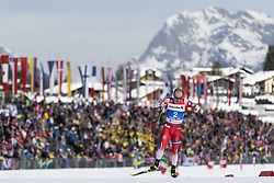 February 21, 2019 - Seefeld In Tirol, AUSTRIA - 190221 Sindre Bjørnestad Skar of Norway competes in men's cross-country skiing sprint qualification during the FIS Nordic World Ski Championships on February 21, 2019 in Seefeld in Tirol..Photo: Joel Marklund / BILDBYRÃ…N / kod JM / 87880 (Credit Image: © Joel Marklund/Bildbyran via ZUMA Press)