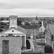 Looking south across the historic downtown area of Fredericksburg, VA